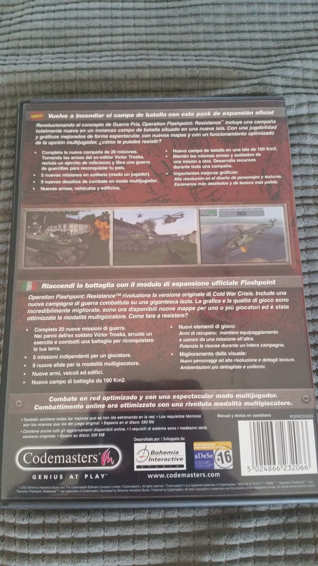 operation flashpoint resistance juego pc