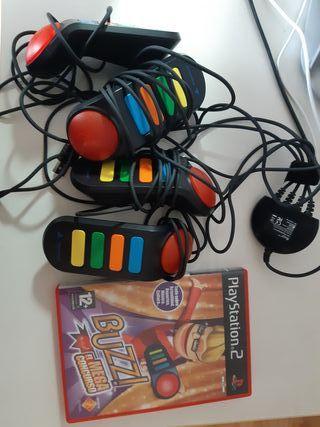 Juego Buzz con mandos para Play2