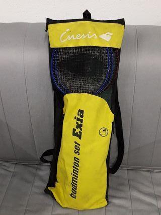 raquetas y red Badminton