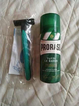 Espuma de afeitar PRORASO 50ml + regalo cuchilla