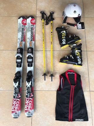 Material esqui júnior ideal 5/7 anys