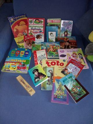 libros y juguetes