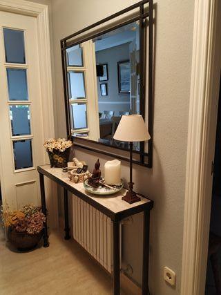 Mueble recibidor y espejo Forja