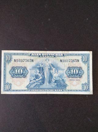 Alemania 10 marcos. 1949.