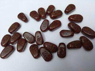 Piedras naturales de Aventurina marrón y dorada