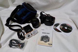 Cámara Canon 550D + Objetivo 18-55