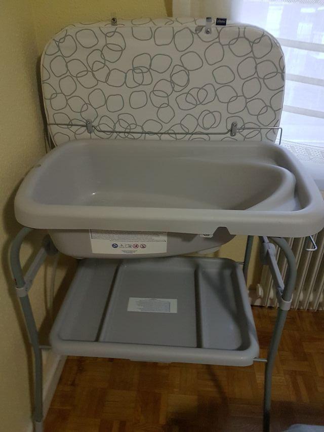 Bañera bebé con cambiador