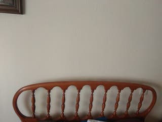 Cama completa.Colchón y base tapizada 105