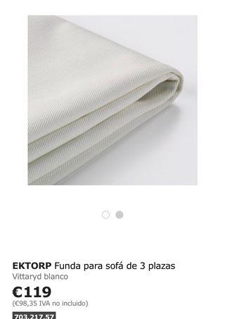 Funda blanca sofa 3 plazas ektorp ikea de segunda mano por - Sofas en fuengirola ...