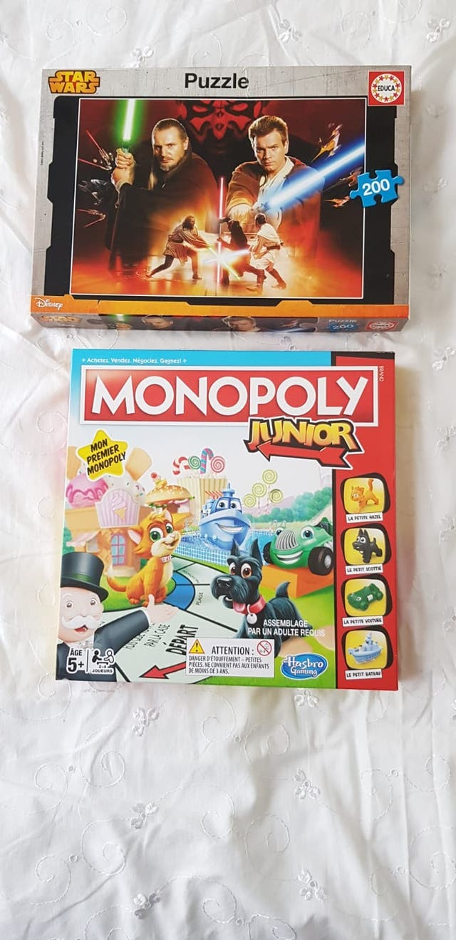 Pack jeux MONOPOLY JR + Puzzle Star Wars