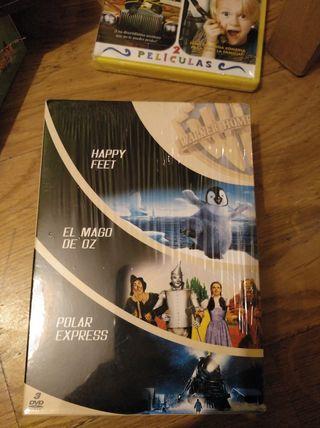 Pack DVD. Happy feet, Mago de Oz, Polar Express