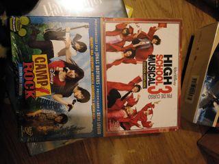 Pack pelis dvd High School Musical 3+Camp rock
