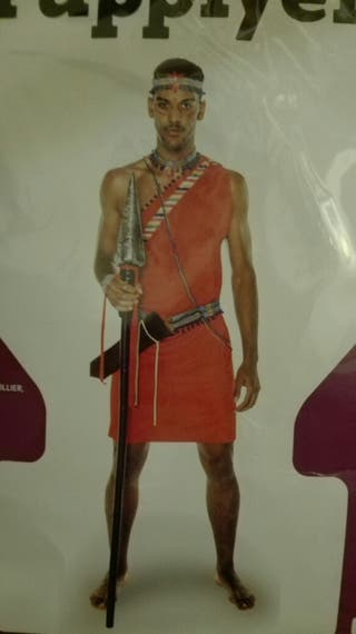 Disfraz de guerrero masai