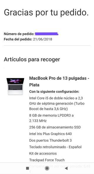 MacBook Pro de 13 pulgadas del 2018