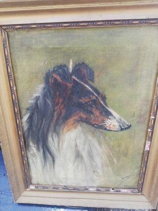 cuando antiguo de perro fechado 1926