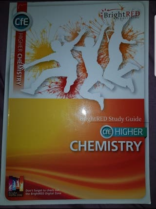 Bright red Higher Chemistry Textbook