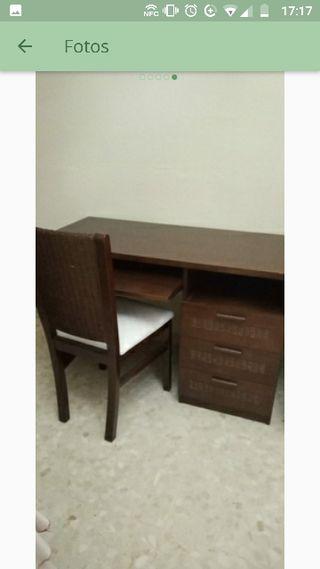 mesa escritorio con silla enea