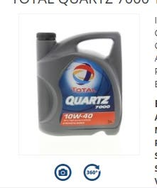 Aceite de Motor Total Quartz 7000