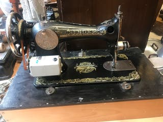 Máquina coser silver antigua