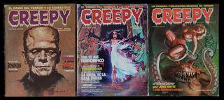 CREEPY. Lote de 3 comics (5, 40 y 59) Toutain 1979
