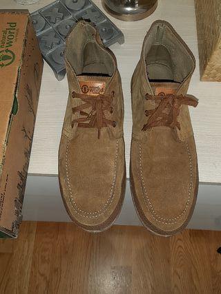 zapatillas serraje natural world N45 y N41