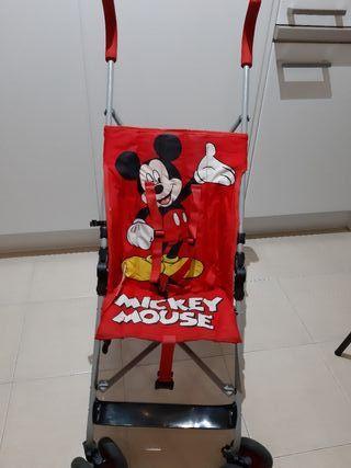 Silla de paseo tipo paraguas. Mickey Mouse
