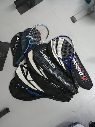 2 raquetas y 7 fundas