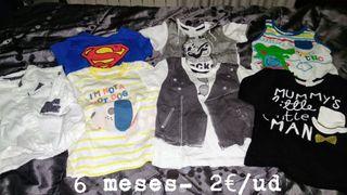 camisetas 6 meses