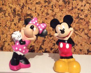 Lote figuras Mickey y Minnie 13 cm