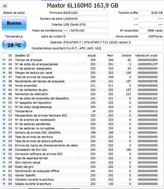 "Disco duro Maxtor 3,5"" de 160GB"