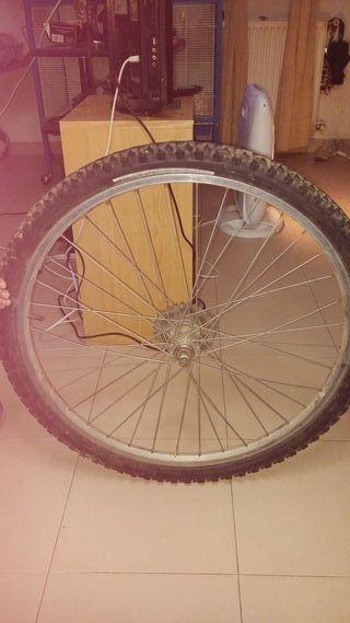 Rueda de bicicleta trasera