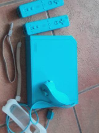 Consola Wii azul