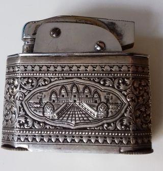 Mechero antiguo de plata vintage encendedor