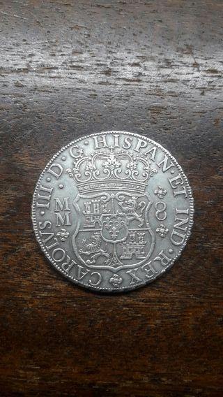 Moneda Carlos III 8 reales 1762
