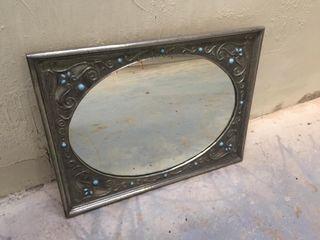 Espejo vintage estaño