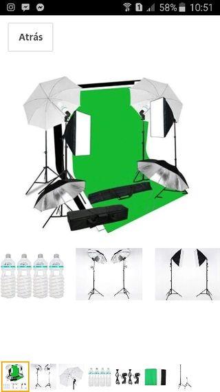 Kit iluminación para fotografía y vídeo
