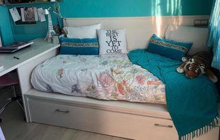 Cama nido con 2 colchones + cabezal +escritorio...