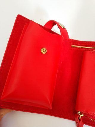 Zara 7 Segunda Bolso Con Por De Rojo Mini Mano Tachuelas WE9HDI2