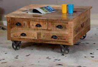 Mesa de centro con cajones. Vintage. Muebles Mesas