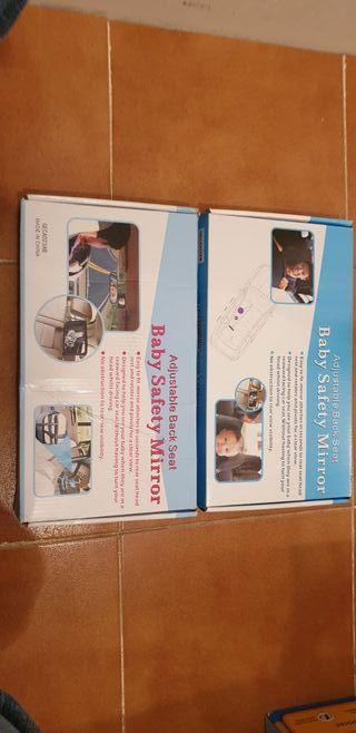 Espejo retrovisor interior para bebé (2 uds disp)
