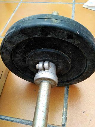 Barra y pesas Salter