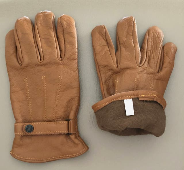 paire de gants en cuir gold doublé T.9