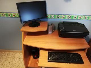 ordenador. mesa. pantalla.