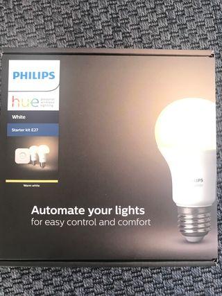 2 Bombillas Philips Hue White + Puente Wifi Nuevo