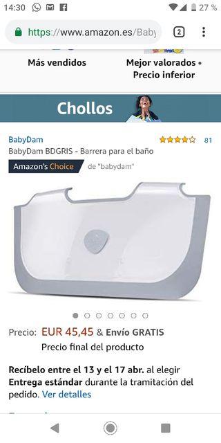 barrera bañera BabyDam