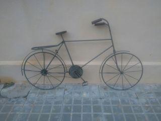 Bicicleta artesania forja para pared