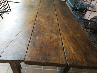 mesa comedor antigua de castaño