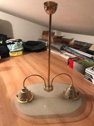 Lámpara techo para dos bombillas