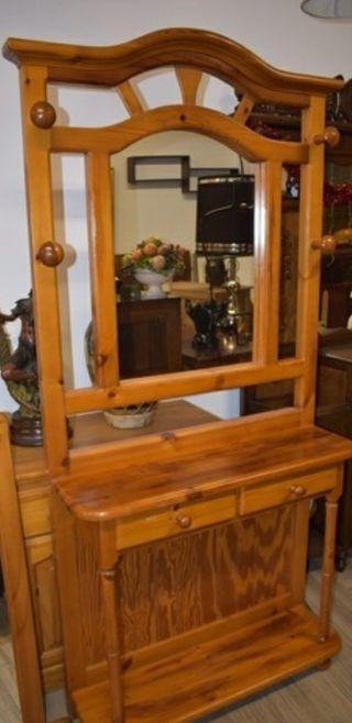 Mueble recibidor madera pino miel