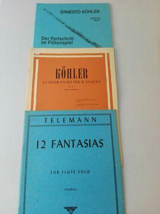 Métodos flauta travesera. Telemann, kohler.